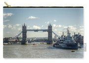 Tower Bridge And Hms Belfast 3 Carry-all Pouch