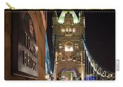 Tower Bridge Side Sign Carry-all Pouch
