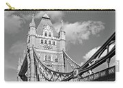 Tower Bridge Vertical Black And White Carry-all Pouch