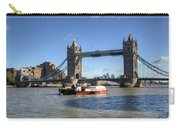 Tower Bridge With Canary Wharf In The Background Carry-all Pouch
