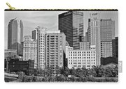 Tower Over Pittsburgh In Black And White Carry-all Pouch