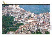 Town Clinging To A Hill Top In Southern Italy Carry-all Pouch
