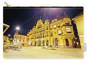 Town Of Ptuj Historic Main Square Evening View Carry-all Pouch