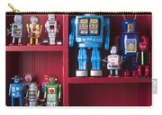 Toy Robots On Shelf  Carry-all Pouch by Garry Gay