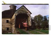 Tractor Parked Inside Of A Round Barn Carry-all Pouch