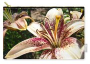 Traditional Art Lily Flowers Floral Garden Baslee Troutman Carry-all Pouch