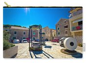 Traditional Dalmatian Town Of Tisno Square Carry-all Pouch
