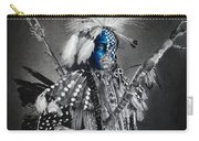 traditional dancer Blue Carry-all Pouch