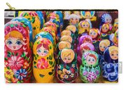 Traditional Russian Matrushka Nesting Puzzle Dolls Carry-all Pouch