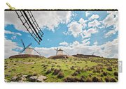 Traditional White Windmills  Carry-all Pouch