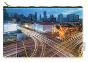 Traffic Light Trails In Singapore Chinatown Carry-all Pouch
