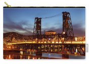 Traffic Light Trails On Steel Bridge Carry-all Pouch