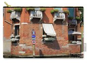Traffic Signs On The Canal In Venice Italy Carry-all Pouch
