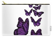 Trail Of The Purple Butterflies Transparent Background Carry-all Pouch