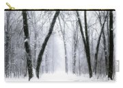 Trail Through The Winter Forest Carry-all Pouch
