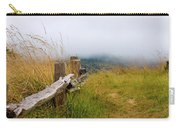 Trail With Coastal Morning Fog Carry-all Pouch