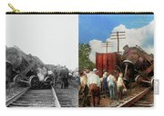 Train - Accident - Butting Heads 1922 - Side By Side Carry-all Pouch