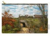 Train - Arlington Nj - Enjoying The Autumn Day - 1890 Carry-all Pouch