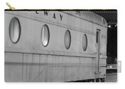 Train Car, Black And White Carry-all Pouch