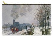 Train In The Snow Or The Locomotive Carry-all Pouch