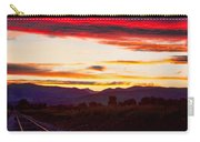 Train Track Sunset Carry-all Pouch by James BO  Insogna