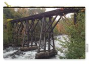 Train Tracks Over The Winnipesaukee River Carry-all Pouch
