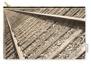 Train Tracks Sepia Triangular  Carry-all Pouch