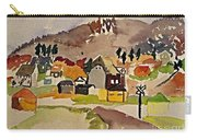 Train Whistle Stop Village  Carry-all Pouch