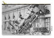 Train Wreck At Montparnasse Station Carry-all Pouch