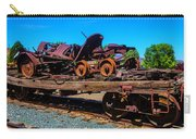 Train Wreckage On Flat Car Carry-all Pouch