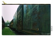 Trains 12 Cross Process Border Carry-all Pouch
