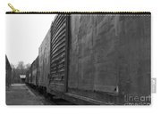 Trains 12 Blkwht Carry-all Pouch