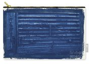 Trains 13 Cyanotype Border Carry-all Pouch
