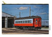 Trains Chicago Aurora Elgin Trolley Car 409 Carry-all Pouch