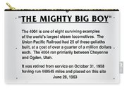 Trains Mighty Big Boy Signage Carry-all Pouch
