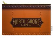Trains North Shore Line Chicago Signage Carry-all Pouch