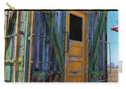 Trains Wooden Box Car Yellow Door Carry-all Pouch