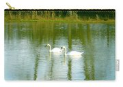 Tranquil Reflection Swans Carry-all Pouch