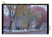 Transitions Autumn To Winter Snow Poster Carry-all Pouch