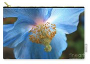 Translucent Blue Poppy Carry-all Pouch by Carol Groenen