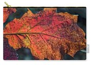 Translucent Red Oak Leaf Study Carry-all Pouch