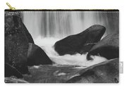 Trap Falls In Ashby Ma Black And White 6 Carry-all Pouch