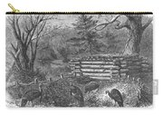 Trapping Wild Turkeys, 1868 Carry-all Pouch