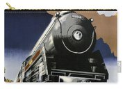 Travel Canadian Pacific Across Canada - Steam Engine Train - Retro Travel Poster - Vintage Poster Carry-all Pouch