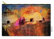 Travel Exotic Woman On Ramparts Mehrangarh Fort India Rajasthan 1h Carry-all Pouch