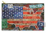 Travel The Usa One Plate At A Time License Plate Art By Design Turnpike Carry-all Pouch