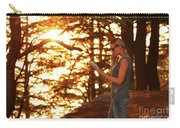 Traveler Woman In The Forest Carry-all Pouch