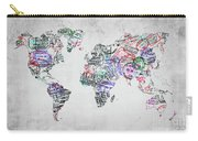 Traveler World Map Grey Carry-all Pouch