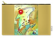Traveling Band Original Painting Madart Carry-all Pouch by Megan Duncanson