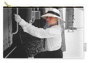 Traveling By Train - Black And White Focal Carry-all Pouch